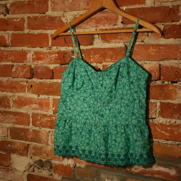 American Eagle Outfitters Tops - American Eagle Floral + Crochet Babydoll Crop Cami